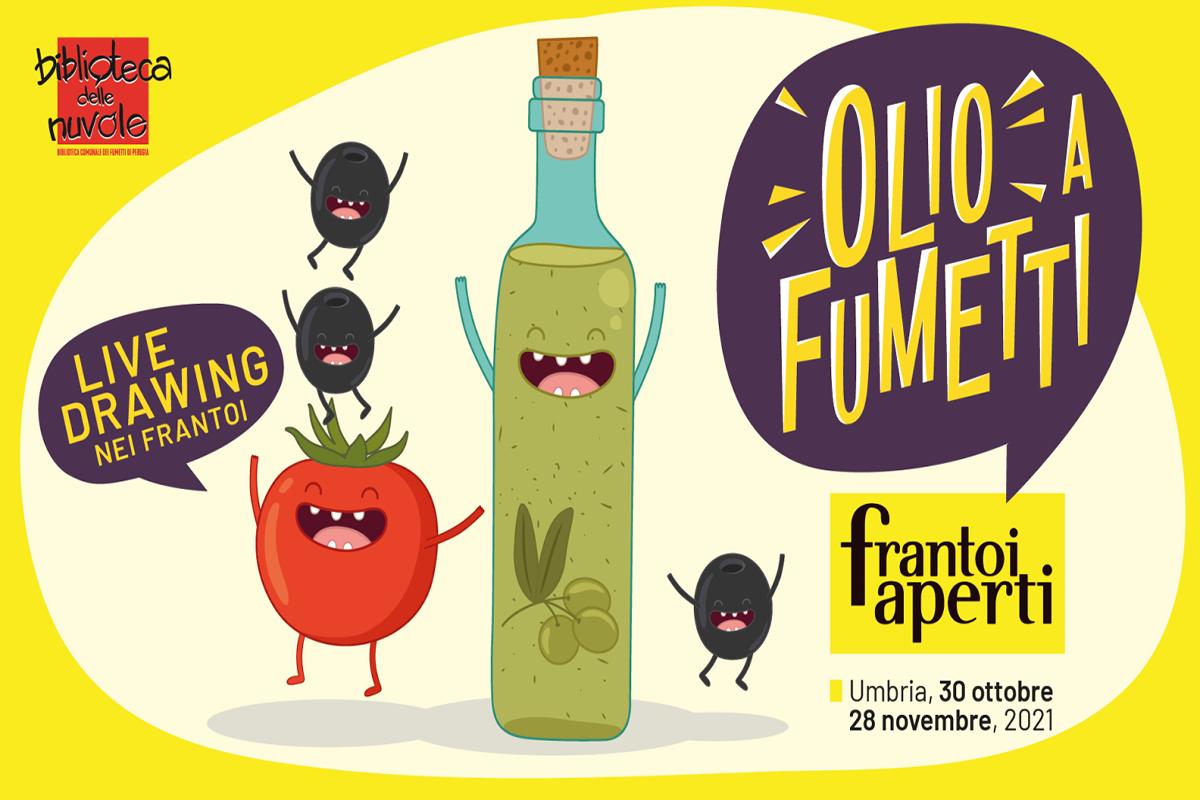 Olio a Fumetti – LIVE drawing nei frantoi